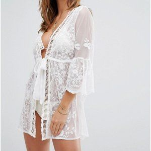new ASOS RIVER ISLAND RESORT swim cover up xs